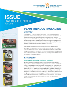 Plain tobacco packaging backgrounder document