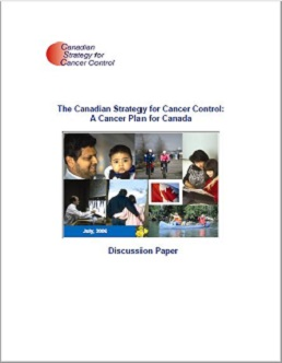 report cover of 2006 Canadian Strategy for Cancer Control