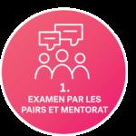 icône examen par les pairs et mentorat
