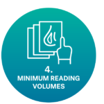 icon minimum reading volumes